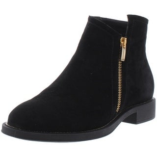 Beautifeel Womens Monique Booties Suede Round Toe - Black Suede - 37 Medium (B,M)