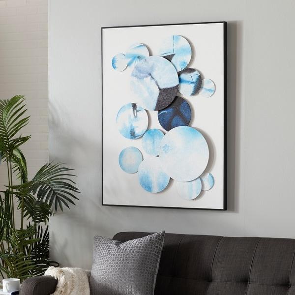Blue Cotton Contemporary Framed Wall Art 40 x 30 x 3 - 30 x 3 x 40. Opens flyout.