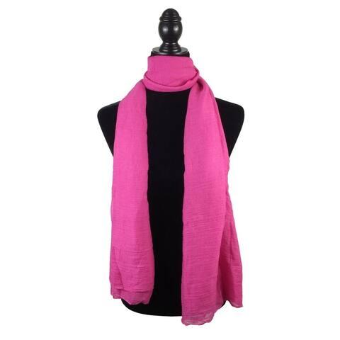 Womens Beach Sarong Swimsuit Wrap Swimwear Cover Up Pareo Beach Wraps - Hotpink