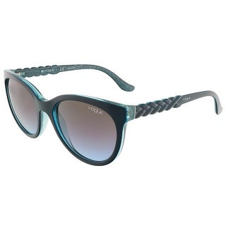 Vogue VO2915S 226048 Petroleum Green Glitter Round sunglasses