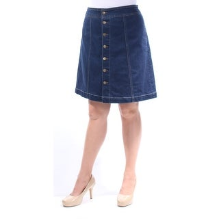 CHARTER CLUB $44 Womens New 1003 Blue Above The Knee A-Line Casual Skirt 12 B+B