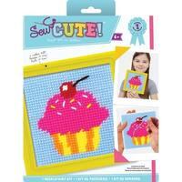 "6""X6"" Stitched In Yarn - Sew Cute! Cupcake Needlepoint Kit"