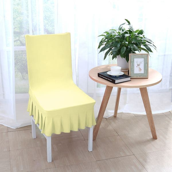 Shop Stretchy Thicken Plush Short Dining Room Chair Covers ...