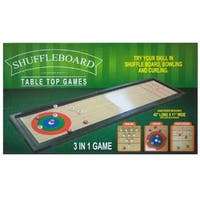 Daily Basic Party Fun 3 In 1 Shuffleboard, Bowling and Curling Table Top Game