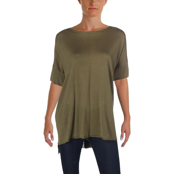 44e7049214e Shop Eileen Fisher Womens Tunic Sweater Organic Linen High-Low - L ...
