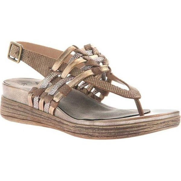 61971668c Shop OTBT Women s Aviate Thong Sandal Gold Leather - Free Shipping Today -  Overstock - 20747070