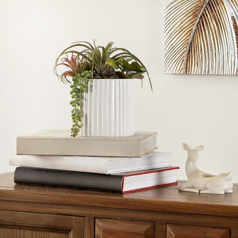 """SAFAVIEH Faux Decorative Mixed Succulent Potted Artificial Plant - 9.1"""" W x 7.5"""" L x 9.5"""" H"""