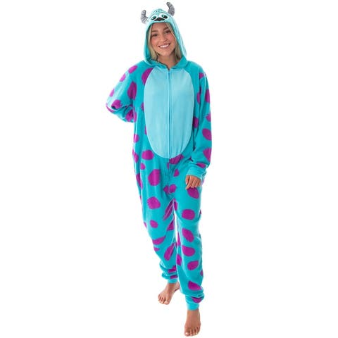 Disney Monsters Inc. Womens' Sulley Fleece Cosplay Costume Union Suit Pajama
