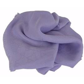 New Gucci Women's 307245 Lavender Modal Cotton GG Guccissima Scarf Wrap 55 x 55
