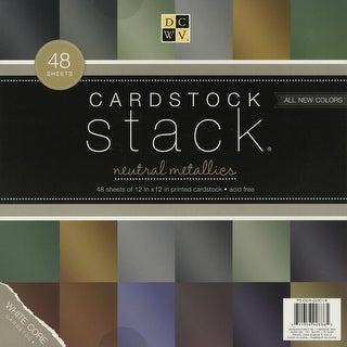 "DCWV Cardstock Stack 12""X12"" 48/Pkg-Metallic, 12 Colors/4 Each"