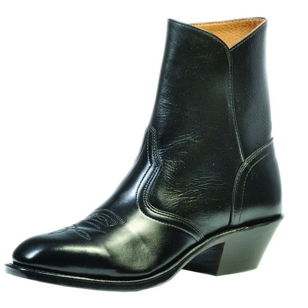 Boulet Western Boots Mens Cowboy Leather Ankle Torino Black Calf