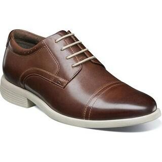 Nunn Bush Men's Dixon Cap Toe Oxford Brown Multi Leather