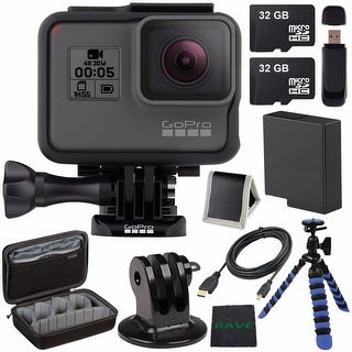 GoPro HERO5 Black CHDHX-501 + Replacement Lithium Ion Battery For GoPro Hero5 + 32GB microSD Card + Micro HDMI Cable Bundle