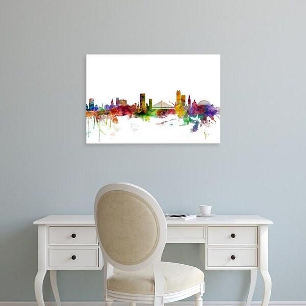 Easy Art Prints Michael Tompsett's 'Liege Belgium Skyline' Premium Canvas Art
