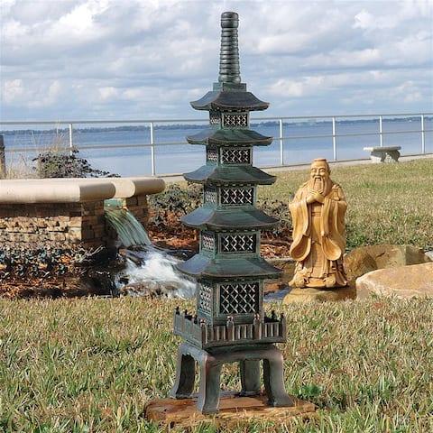 Nara Temple Garden Pagoda Statue
