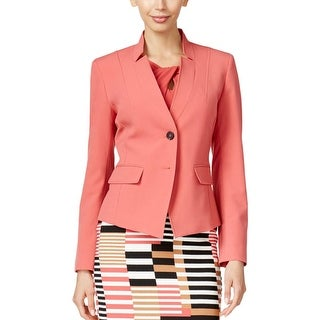 Nine West Womens Blazer Stretch Two-Button
