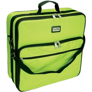 "TUTTO Embroidery Bag-19""X17""X6"" Lime - Green"