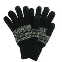 CTM® Men's Fairisle Touchscreen  Gloves