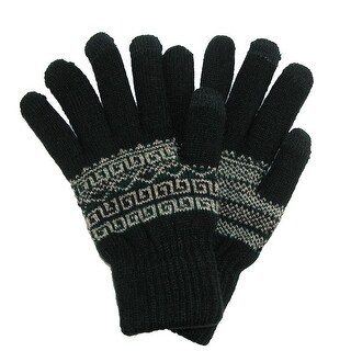 CTM® Men's Fairisle Touchscreen Gloves