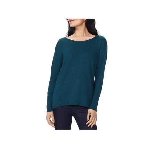 NYDJ Womens Pullover Sweater Knit Boatneck - Bluebefiel - L