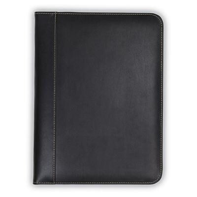 Samsill Contrast Stitch Leather Padfolio – Lightweight & Stylish Business Portfolio For Men & Women – Resume Portfolio,