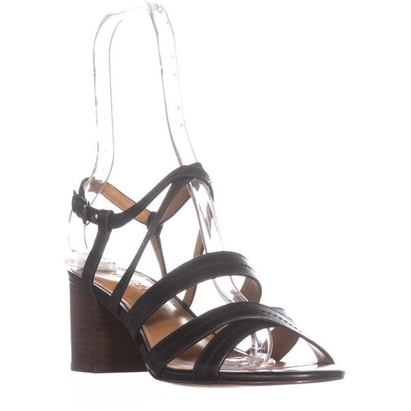 Coach Terri Strappy Heel Sandals, Black - 8.5 us / 38.5 eu