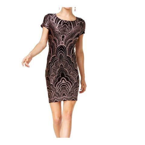 Jump Apparel Sheath Dress Black Size Medium M Junior's Glitter-Print