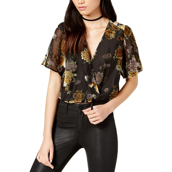 37137a6aa61a Shop ASTR the Label Womens Eliza Bodysuit Chiffon Velvet - Free Shipping On  Orders Over $45 - Overstock - 23150338