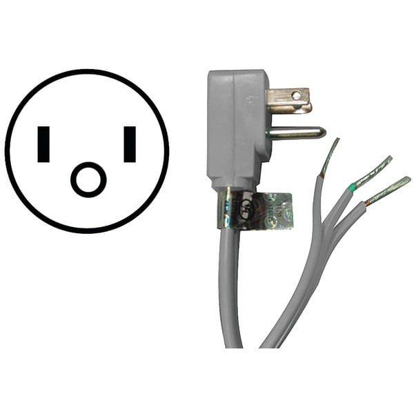 Certified Appliance 15-0346 Appliance Power Cord, 15 Amps (6Ft)