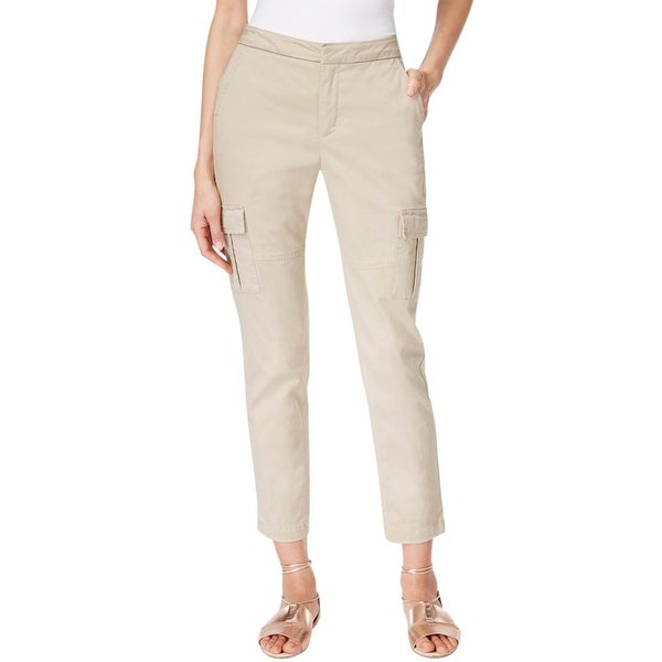 Two by Vince Camuto Womens Cargo Pants Flat Front Hook/Bar Zip Fly