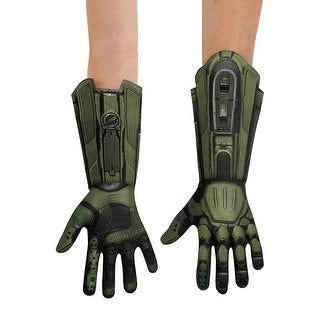 Disguise Master Chief Deluxe Child Gloves - Green