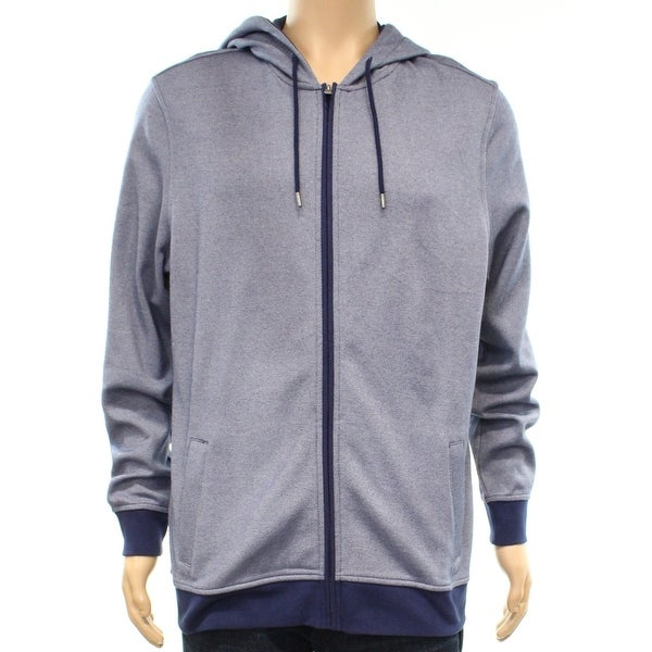 9e0739b5c Shop Club Room Navy Blue Mens Size Medium M Hooded Full-Zip Sweater ...