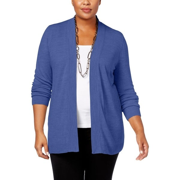 Shop Karen Scott Womens Plus Cardigan Sweater Open Front