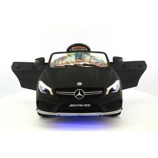 Mercedes CLA45 12V Kids Ride-On Car with R/C Parental Remote Matt Black