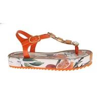 c3b2eeab4 Shop Dolce   Gabbana Purple Lace Crystal Flat Sandals - eu40-us9-5 ...