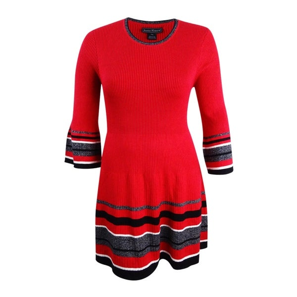 4d900f41438 Shop Jessica Howard Women s Bell-Sleeve Sweater Dress - Red - Free Shipping  On Orders Over  45 - Overstock - 24314091