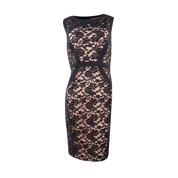 d89b4934 Shop Jax Women's Floral Lace Sheath Dress - Black - Free Shipping Today -  Overstock - 17116570