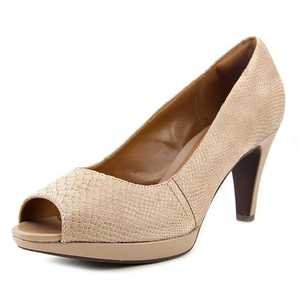 Clarks Narine Rowe Women Peep-Toe Leather Heels