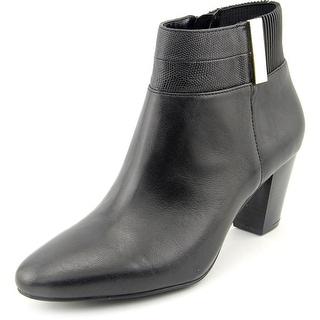 Alfani Palessa Women Round Toe Leather Ankle Boot