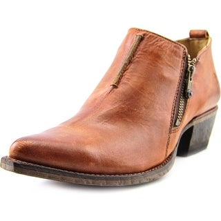 Frye Sacha Moto Shortie Pointed Toe Leather Bootie