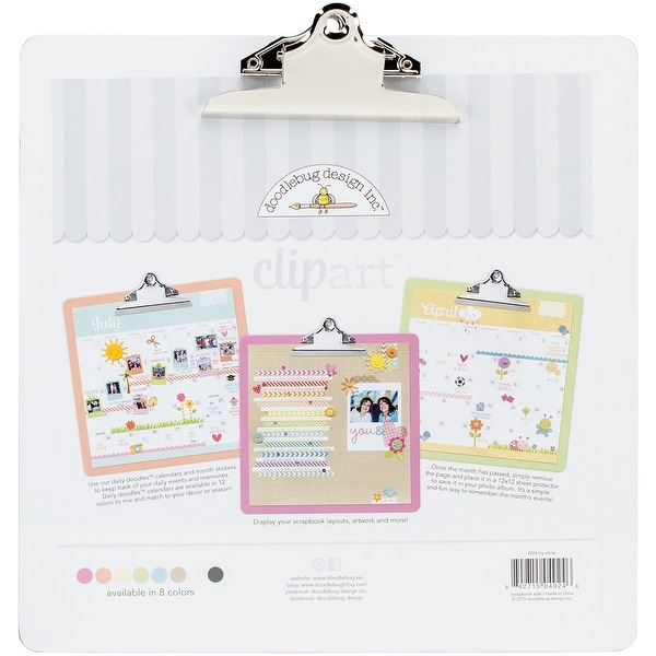 Doodlebug Clipart Monochromatic Clipboard 135X135 Lily White
