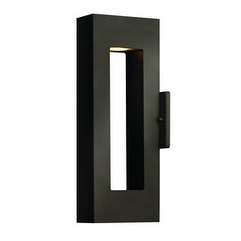"""Hinkley Lighting H1640 16"""" Height 2 Light Dark Sky Outdoor Wall Sconce with Rectangular Shade from the Atlantis Collection"""