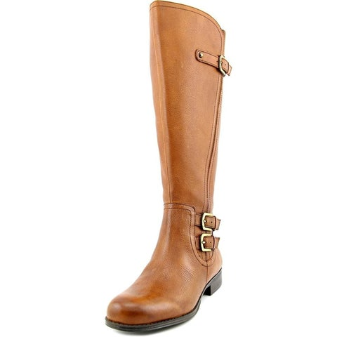 Naturalizer Womens Jenson Leather Closed Toe Mid-Calf Riding Boots