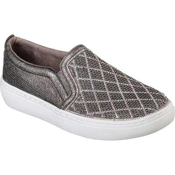 42959ac88844 Shop Skechers Women s Goldie Diamond Darling Slip-On Sneaker Pewter ...