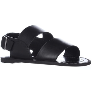 Charles by Charles David Arianna Flat Strapped Sandals - Black