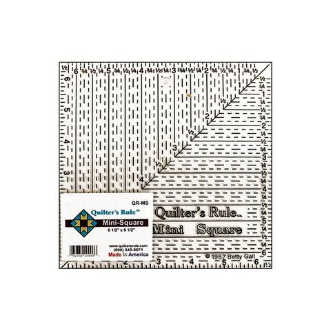 "Quilter's Rule Mini Square Ruler 6.5"" Black"
