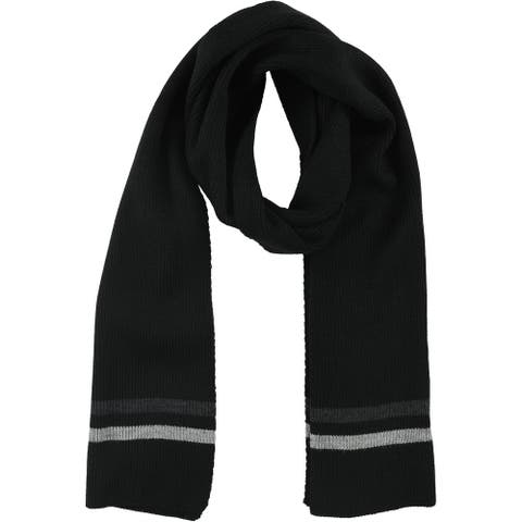 Tommy Hilfiger Mens Double Stripe Scarf, black, One Size - One Size