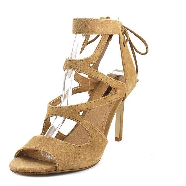 Tahari Lynna Women Open Toe Suede Tan Sandals