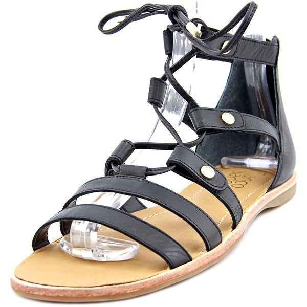 Franco Sarto Baxter Women Open Toe Synthetic Black Gladiator Sandal