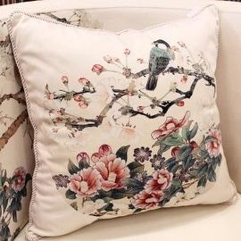 """Luxury White Bird Round Printing Pillow 18""""X18"""""""